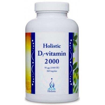 Holistic D-vitamin 2000 odpornośc, wchłanianie wapnia, hormony
