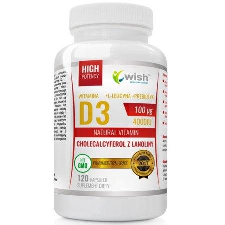 Witamina D3 4000IU zdrowe kości, gospodarka hormonalna, odporność,