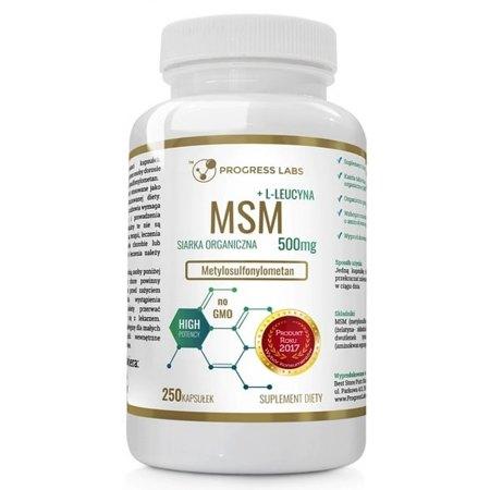 MSM 500mg Siarka Organiczna- satwy, ścięgna, mieśnie , skóra