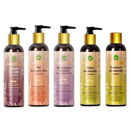 Naturalne kosmetyki do codziennej pielęgnacji ciała i włosów - zestaw