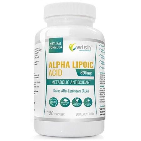 Kwas Alfa Liponowy (ALA) 600 mg - cukrzyca, odchudzanie,