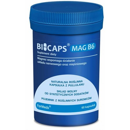 BICAPS® MAG B6 - uspokojenie, odżywlka dla układu nerwowego