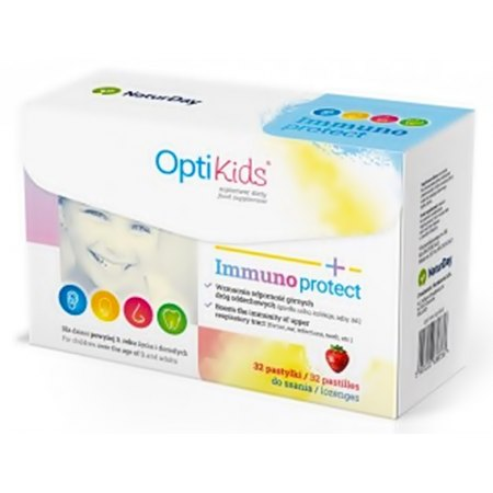 OptiKids Immunoprotect -górne drogi oddechowe, wspomaganie odporności dziecka