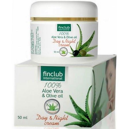 Krem na dzień i na noc: Aloe Vera & olej z oliwek-odżywia, nawilża,