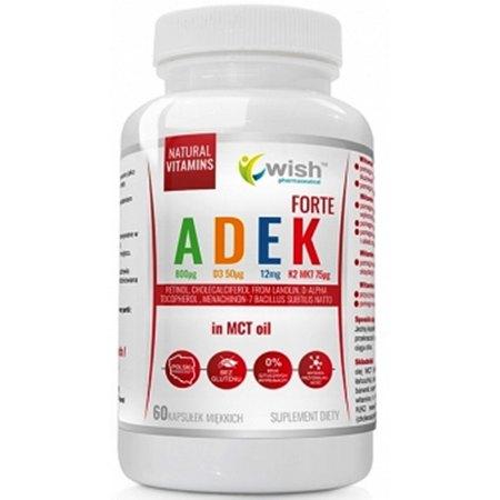 Witamina ADEK Complex A D3 E K2 MK-7 : witaminy rozpuszczalne w tłuszczach