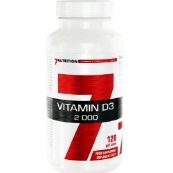 7Nutrition Vitamin D3 2000 -120kaps kości, zęby, hormony, odporność