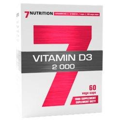 7Nutrition VITAMIN D3 2000 - 60 vege caps dla sportowców-mocne kości