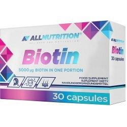 ALLNUTRITION BIOTIN - BIOTYNA: 5000 µg - skóra, włosy