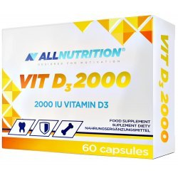 ALLNUTRITION D3 2000 - zdrowe kości, zęby, hormony,